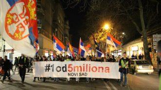 """Protesti """"1 od 5 miliona"""" održani u više od 25 gradova Srbije (FOTO, VIDEO) 8"""