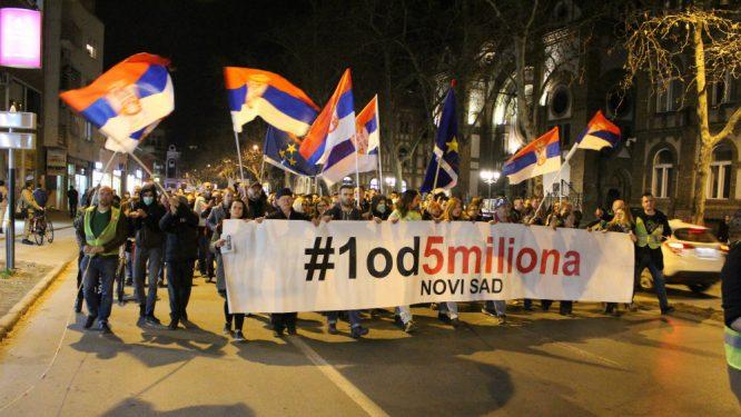 """Protesti """"1 od 5 miliona"""" održani u više od 25 gradova Srbije (FOTO, VIDEO) 9"""