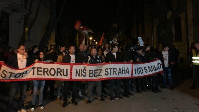 "Niš: Protest ""Stop teroru - Za Niš bez straha"" 8. juna 1"