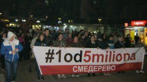 """Protesti """"1 od 5 miliona"""" održani u više od 25 gradova Srbije (FOTO, VIDEO) 21"""