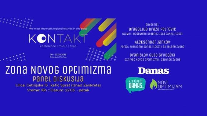Zona Novog Optimizma na Kontakt festivalu 22. marta 2