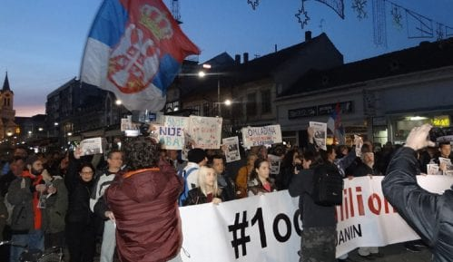 """Protesti """"1 od 5 miliona"""" u više gradova Srbije (VIDEO, FOTO) 11"""