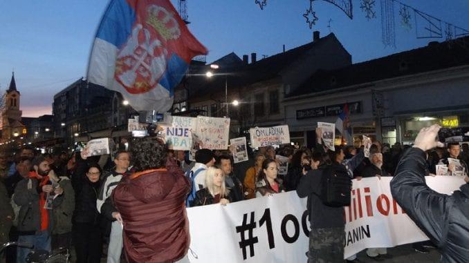 """Protesti """"1 od 5 miliona"""" u više gradova Srbije (VIDEO, FOTO) 1"""