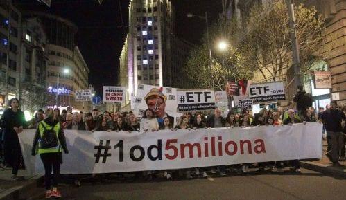 """Organizatori protesta """"1 od 5 miliona"""" osudili napad na Kseniju Radovanović 7"""