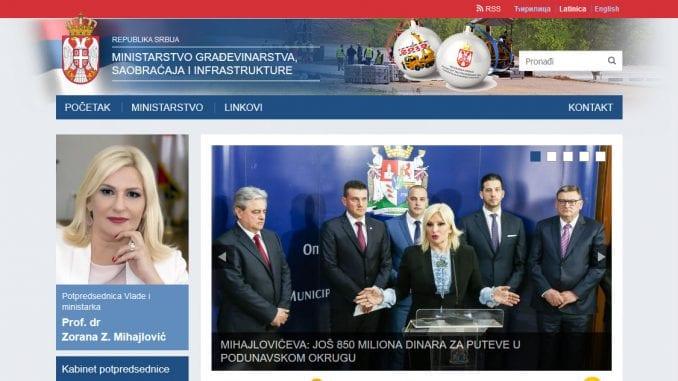 Sajt Ministarstva građevinarstva, saobraćaja i infrastrukture ubuduće i na romskom jeziku 1