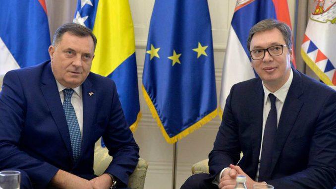 Dodik sa Vučićem u Mostaru o obnovi Saborne crkve 1
