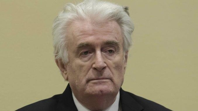 Karadžić osuđen na kaznu doživotnog zatvora 1
