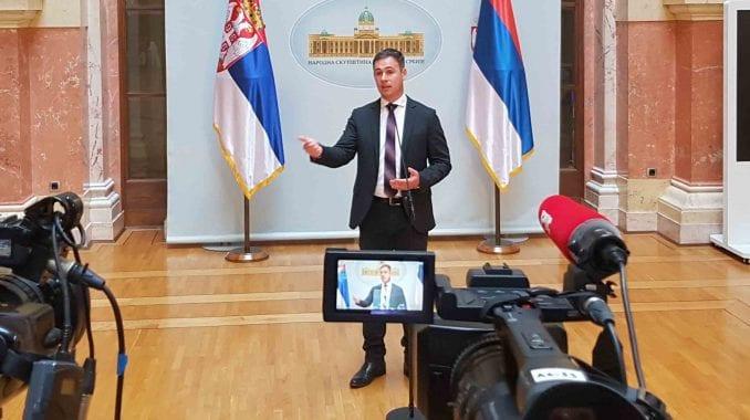 Aleksić: Opozicija će iz hola skupštine komentarisati izveštaj o KiM 1
