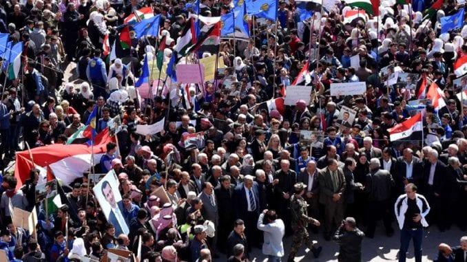 Hiljade Palestinaca protestuje protiv Trampovog mirovnog plana 2