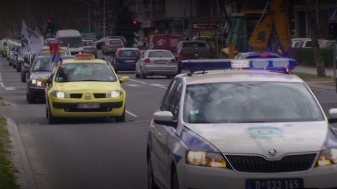 Kragujevac: Protest taksista iz cele Srbije, traže poštovanje zakona 1