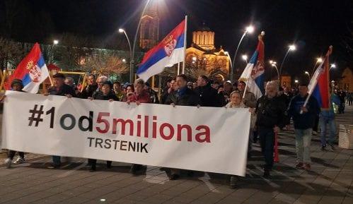 """Novi protest """"1 od 5 miliona"""" u Trsteniku 28. marta 2"""