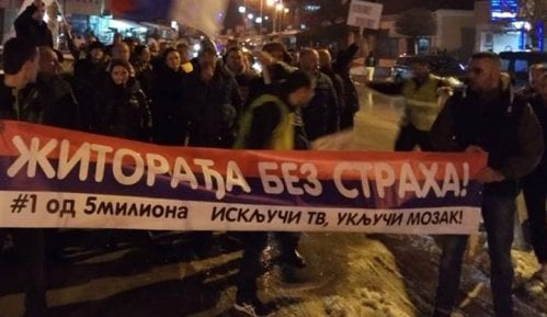 Protest u Žitorađi zbog hapšenja posle dešavanja u kabinetu predsednika opštine 4