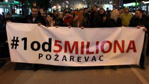 """Protesti """"1 od 5 miliona"""" održani u više gradova i opština (FOTO, VIDEO) 6"""
