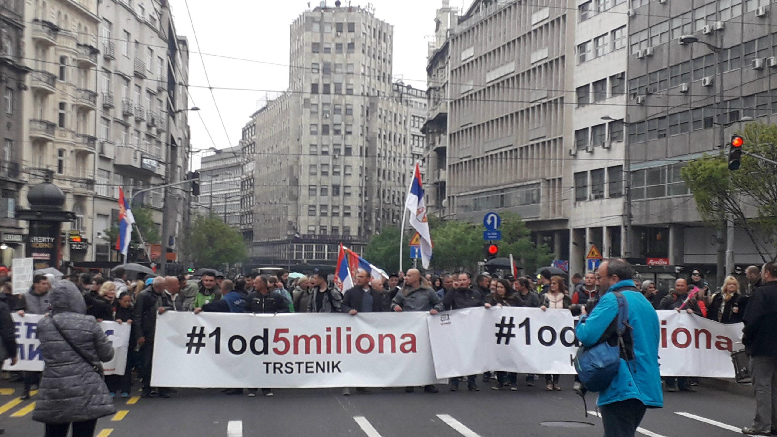 Trasa protesta: Šetaće se do Vlade, Slavije i nazad do Skupštine 1