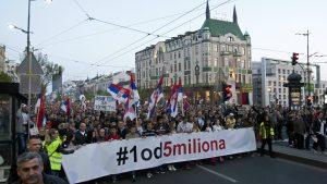 """Procena opozicije - 35.000 ljudi na protestu """"1 od 5 miliona"""" (FOTO, VIDEO) 26"""