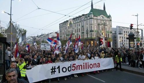 Protest Jedan od pet miliona ubuduće sa potpisnicima Sporazuma s narodom 8