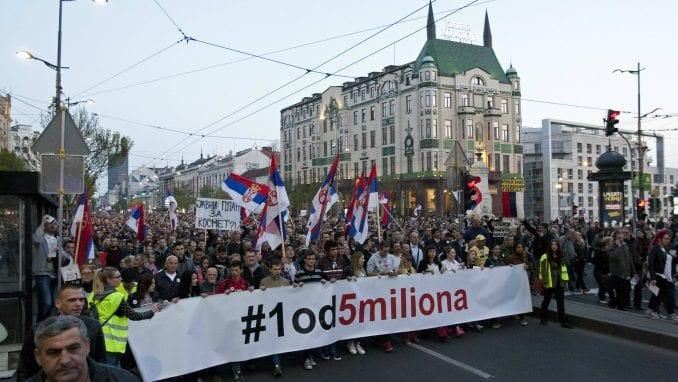 Protest Jedan od pet miliona ubuduće sa potpisnicima Sporazuma s narodom 1
