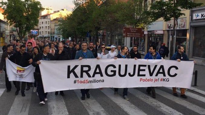 U Kragujevcu održan protest Jedan od pet miliona 1