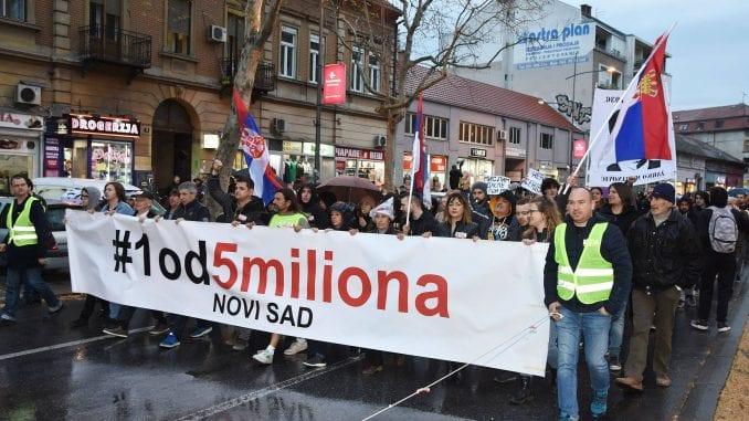 Večeras novi protest Jedan od pet miliona u Novom Sadu 1