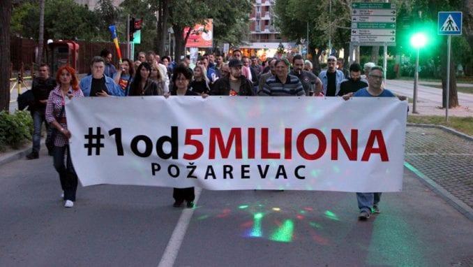 U Požarevcu održan novi protest 1 od 5 miliona 1