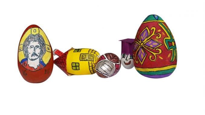 Izložba uskršnjih jaja učenika iz Lajkovca 1