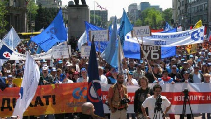 Sindikati zakazali za 1. maj zajednički protest u Beogradu 1