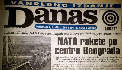 """Danas (1999): Ogromna šteta u Novom Sadu, Aleksinac """"pretvoren u stratište"""" 8"""
