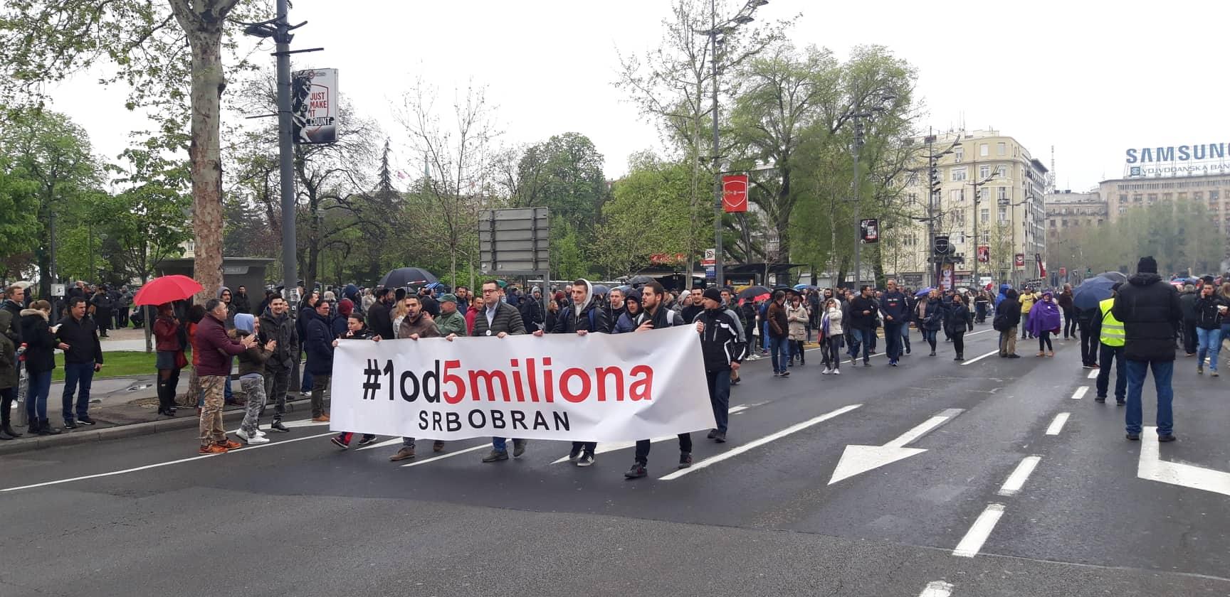 """Procena opozicije - 35.000 ljudi na protestu """"1 od 5 miliona"""" (FOTO, VIDEO) 15"""