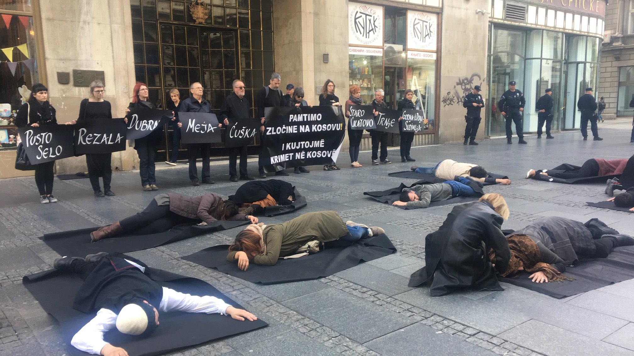 Javna akcija povodom 20 godina od zločina nad albanskim civilima na Kosovu 1