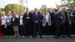 Sijerto na mitingu SNS: Srbija je jaka, nisu zanemareni nacionalni interesi