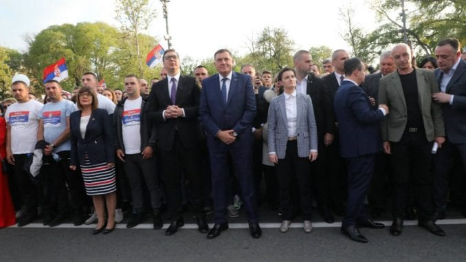 Sijerto na mitingu SNS: Srbija je jaka, nisu zanemareni nacionalni interesi 3