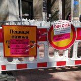 SZS uklonio ograde iz Kolarčeve i postavio ih pred REM (FOTO, VIDEO) 3