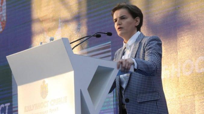 Brnabić na mitingu: Srbija nije podeljena zemlja, opozicija nema program 4