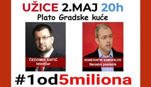 """Protest """"1 od 5 miliona"""" u Užicu 2. maja 15"""