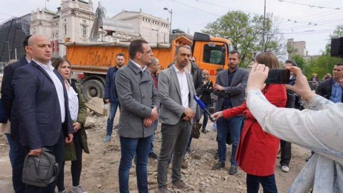 Bastać: Dolazićemo svakog dana na gradilište na Trgu republike 1