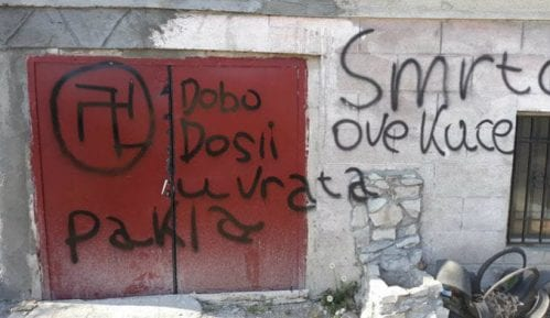 Zaječar: Fašistički simboli na kući člana Romske zajednice 8
