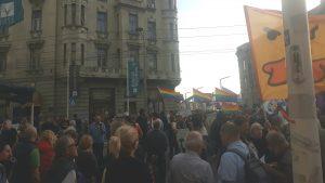 Protest NDBG: Spomenici vizionarima destrukcije Vesiću i Malom kao opomena (VIDEO) 2