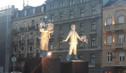 Protest NDBG: Spomenici vizionarima destrukcije Vesiću i Malom kao opomena (VIDEO) 9