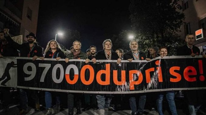 Na protestu pokreta Odupri se zatražena ostavka menadžmenta RTCG 2