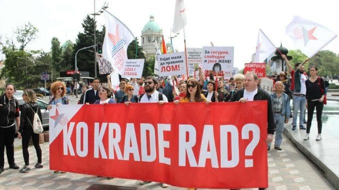 Sindikati Prvi maj obeležavaju protestom u Beogradu 1
