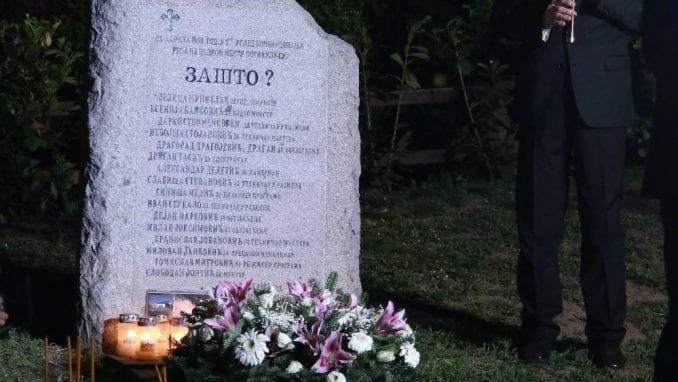 """Radomirović: Od svih novinarskih pitanja najvažnije je ono """"Zašto"""" na spomeniku 2"""