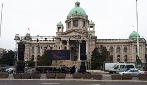 Ulice oko Skupštine bez saobraćaja zbog skupa u kampanji Budućnost Srbije 2