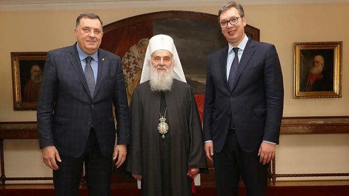 Vučić, Dačić, Gašić, Dodik i Karađorđevići na slavi kod patrijarha Irineja 1