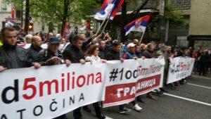 """Procena opozicije - 35.000 ljudi na protestu """"1 od 5 miliona"""" (FOTO, VIDEO) 9"""