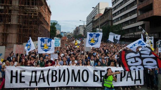 """Protest """"Za grad bez fantoma na vlasti"""" 24. aprila u Beogradu 1"""