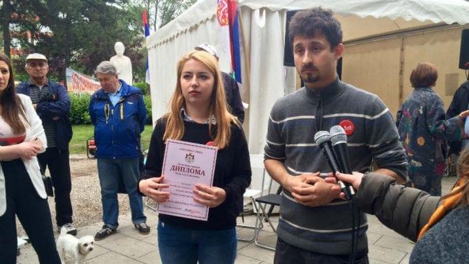 Protest u Beogradu 24. put: Šetnja putem muzeja iluzija 4