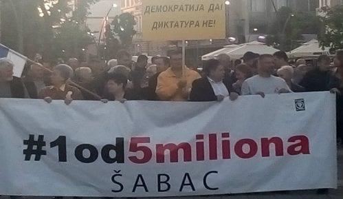 Obeležavanje pola godine protesta, 20. skup u Šapcu 3