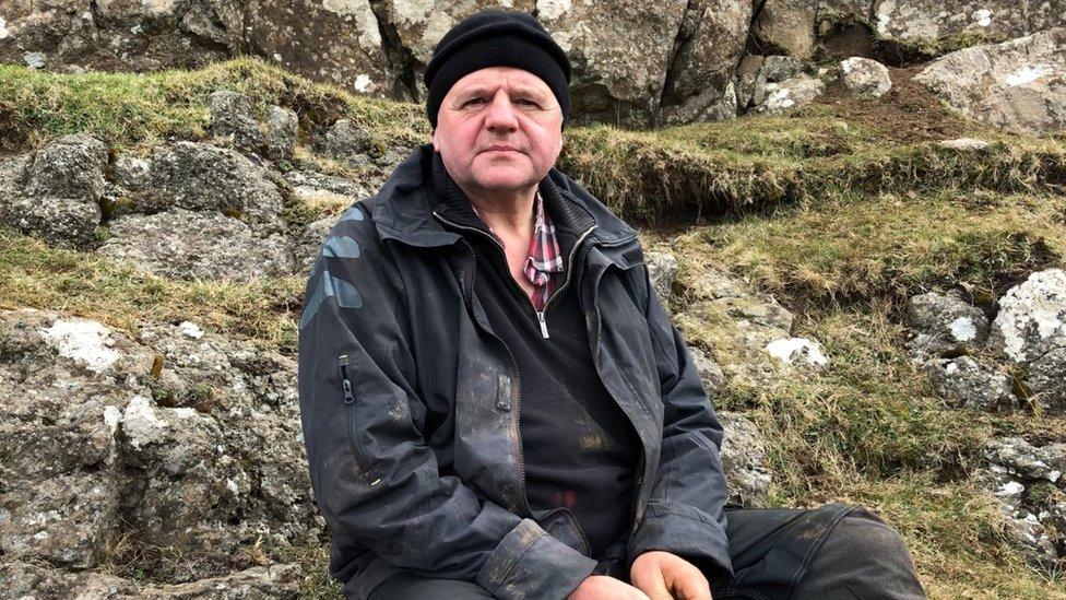 Faroese farmer Jacob Martin Debes