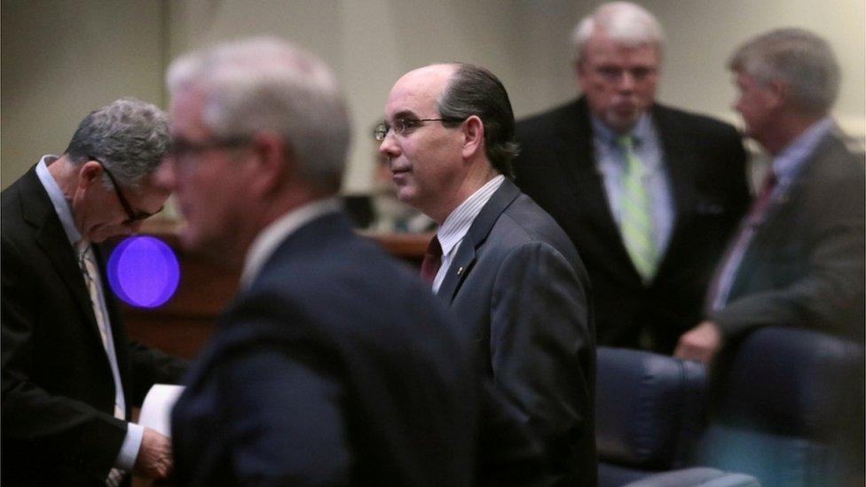 Republican Senator Clyde Chambliss during the Alabama Senate debate, 14 May 2019