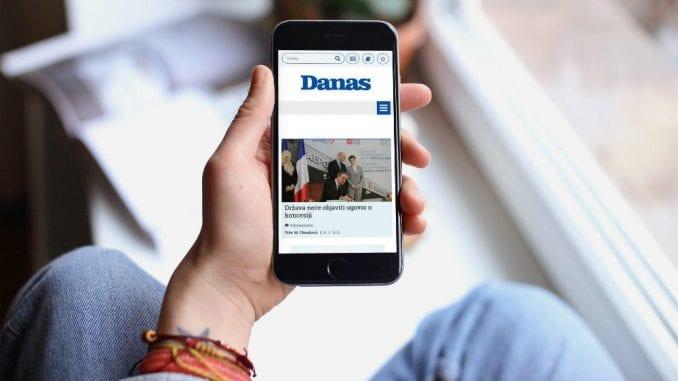 Portal Danasa u aprilu zabeležio skoro šest miliona poseta 1